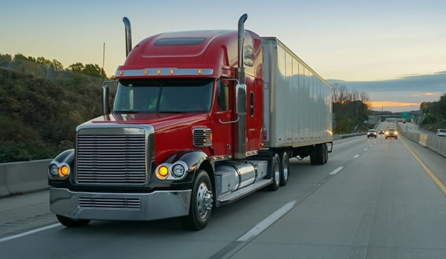 truck delivering goods from company that uses managed IT